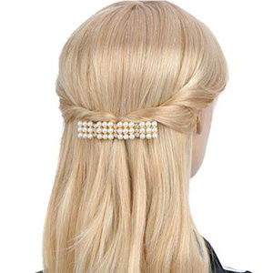 set of 4 Rhinestone Crystal Hair Clip barrettes